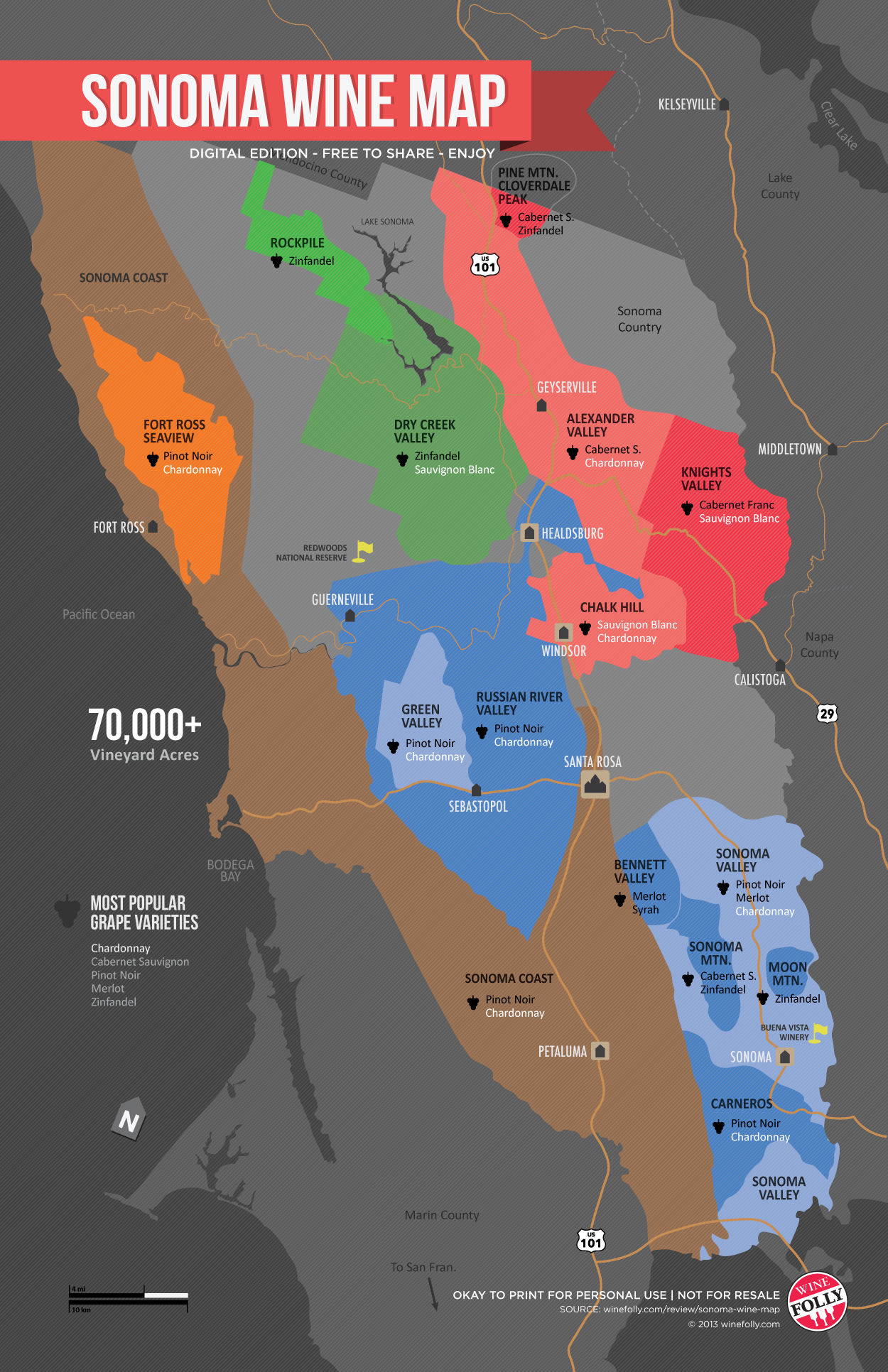 Wine Folly Napa Map